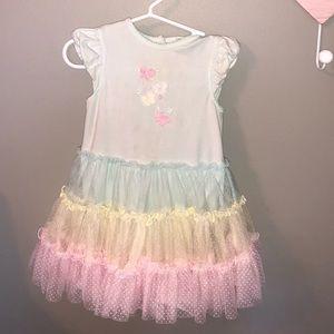 Other - Rainbow girls tutu dress skirt frill spring cover